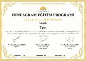 Enneagram Eğitim Programı Sertifikası